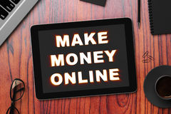 Make money online concept Royalty Free Stock Image