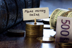 Make money online Stock Photos