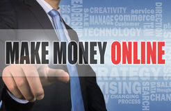 Make money online concept Stock Image