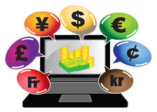Make Money Online Concept Vector Illustration Stock Images