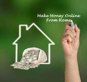 Make money online. From home royalty free stock images