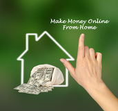 Make money. Online from home stock photo