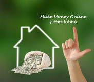 Make money online. From home royalty free stock photos