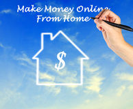 Make money online. From home royalty free stock photography