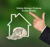 Make money online. From home royalty free stock image