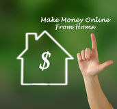 Make money online. From home stock photography