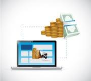 Make money online. web profits guide. illustration Stock Photography