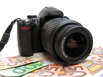 Make money with photos Royalty Free Stock Images