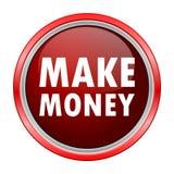 Make Money round metallic red button Royalty Free Stock Photo