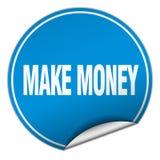 Make money sticker. Make money round sticker isolated on wite background. make money royalty free illustration