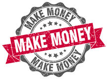 Make money stamp. Sign. seal Stock Images