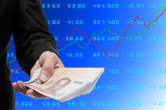 Make money from stock exchange Stock Photography