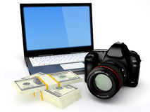 Make money with your photo Royalty Free Stock Images
