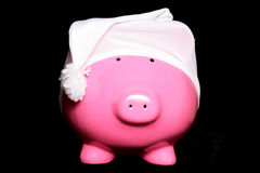 Make money in your sleep. Piggy bank Stock Image