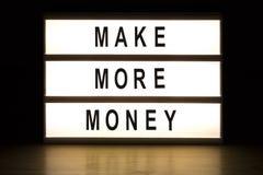 Make more money light box sign board