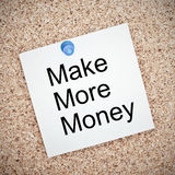 Make more money note Stock Images