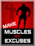 Make Muscles Not Excuses Stock Photography