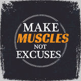 Make Muscles Not Excuses Royalty Free Stock Images