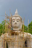Make a new big buddha at Wat Pra Tat San Pa Hieng Royalty Free Stock Photo