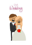 Make och fru på bröllopet av lycka tillsammans Royaltyfri Foto