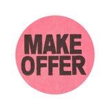 Make offer garage sale sticker Stock Photography