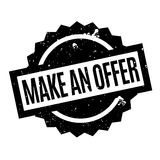 Make An Offer rubber stamp. Grunge design with dust scratches. Effects can be easily removed for a clean, crisp look. Color is easily changed Royalty Free Stock Image