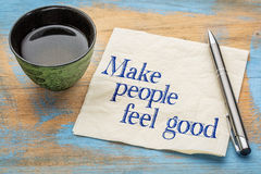 Make people feel good Stock Images