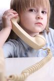 Make a phone call Stock Images