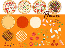 Make pizza by your design - collection 1 Stock Photography