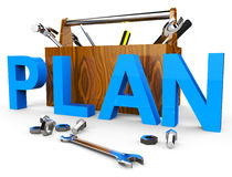 Make A Plan Indicates Ploy Tasks And Proposition Stock Images