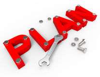Make A Plan Shows Project Management And Enterprise Stock Photo