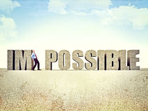 Make it possible Stock Photography