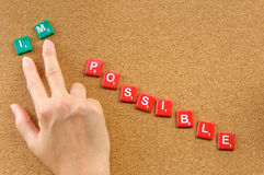 Make it possible. Change your attitude to make it possible Royalty Free Stock Image