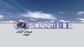 Make it possible. Motivational concept Royalty Free Stock Photos