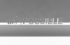 Make it possible. Motivational concept Royalty Free Stock Photography