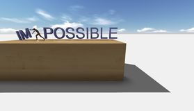Make it possible. Motivational concept Stock Photos