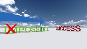 Make it possible. Way to success. Make it possible. Motivational concept made in 3d software Royalty Free Stock Photography