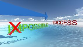 Make it possible. Way to success. Make it possible. Motivational concept made in 3d software Royalty Free Stock Image