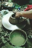Make Pottery. By clay soil Stock Photography