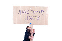 Make poverty history Stock Image