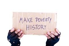 Make poverty history Stock Photography