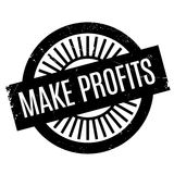 Make Profits rubber stamp. Grunge design with dust scratches. Effects can be easily removed for a clean, crisp look. Color is easily changed Stock Image