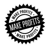 Make Profits rubber stamp. Grunge design with dust scratches. Effects can be easily removed for a clean, crisp look. Color is easily changed Stock Photo