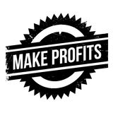 Make Profits rubber stamp. Grunge design with dust scratches. Effects can be easily removed for a clean, crisp look. Color is easily changed Stock Photography