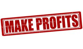Make profits. Stamp with text make profits inside,  illustration Royalty Free Stock Photography