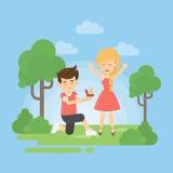 Make a proposal. Royalty Free Stock Photography