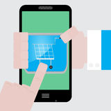 Make purchases apps from your phone Royalty Free Stock Photography