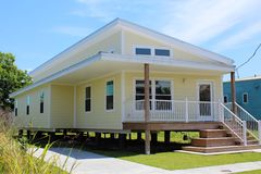 Katrina Reconstruction New Home in New Orleans, LA. This house is one of the sustainable Make It Right replacement homes built in New Orleans' Lower 9th royalty free stock photo