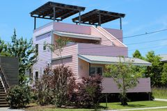 Katrina Reconstruction New Home in New Orleans, LA designed by Frank Gehry Royalty Free Stock Images