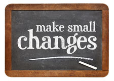 Make small changes advice Stock Photo
